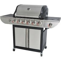 Gas Grill Bbq Side Burner Stainless Steel Backyard Patio Cooking Warming Rack
