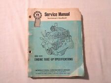 International Harvester Engine Tune Up Service Manual Farm Equipment Gss 1414