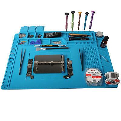 UK 45x30cm Soldering Maintenance Platform Heat Insulation Silicone Pad Desk Mat