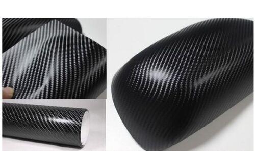 "4D Carbon Fiber BLACK Vinyl 36/"" x 60/"" Vehicle Wrapping Sticker Sheet AIR FREE"