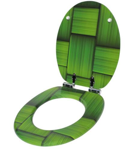 Asiento para inodoro tapa del inodoro colocado arriba WC lentes con automático Softclose
