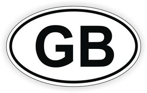Image Is Loading Gb Oval Vinyl Decal Bumper Sticker Euro Great