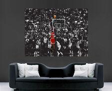 MICHAEL JORDAN BASKETBALL POSTER ART NBA LEGEND SPORT USA CHICAGO BULLS