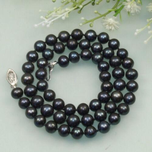 """Fashion Naturel 7-8 mm blanc noir rose d/'eau douce collier de perles 18/"""""""