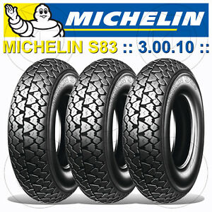 2019 DernièRe Conception Kit 3 Michelin S 83 Pneus 3.00.10 Piaggio Vespa Pk 50 Xl Plurimatic Ae Va52t Grand Assortiment