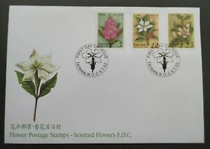 2002-Taiwan-Scented-Flowers-Stamps-FDC