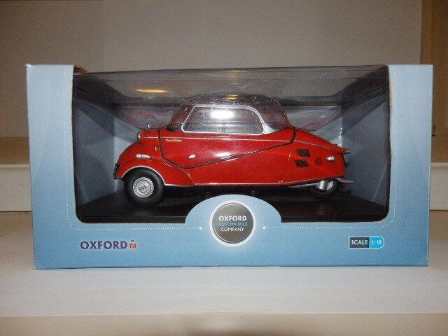 Oxford Diecast Model 18MBC001 1955 Messerschmitt kr200 1 18 Red red Sarde