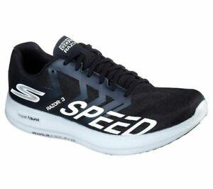 Medicina Forense lente cepillo  Skechers GoRun Razor 3 Hyper Running Shoes Men's Size 12 Black/White | eBay