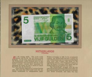 Most Treasured Banknotes Netherlands 1973 5 Gulden UNC P95 Prefix 4026