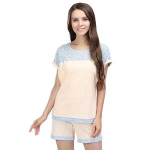 0ac38df6942a1 Details about Women Maternity Pajamas Suit Summer Nursing Clothes  Breastfeeding Sleepwear Sets