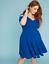 Lane-Bryant-Strappy-Shoulder-Fit-amp-Flare-Dress-Plus-22-24-26-28-True-Blue-3x-4x thumbnail 5