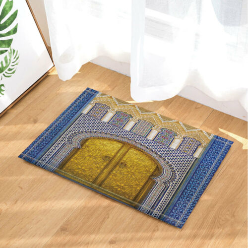 Antique Moroccan Decor Door Patterns Shower Curtain Bathroom /& 12hooks 71*71inch