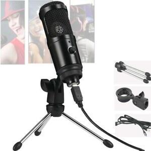 USB-Condenser-Microphone-Cardioid-Studio-Audio-Broadcast-Sound-Recording-Tripod