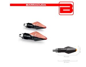BARRACUDA-FRECCE-LAMPADA-MINIVIPER-NERE-CORTE-per-KTM-EXC-250-F-300-300-E