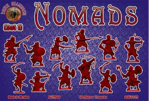 SERIE MIX FANTASY RED-BOX MINIATURES 1//72 Set 1 ALL72049 Nomad Warriors