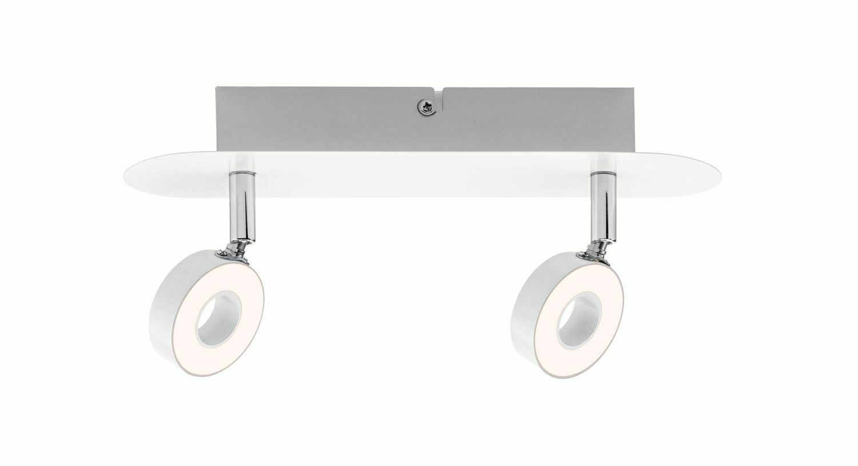 Paulmann Spotlight Cycle LED 2x4,3W Weiß Chrom 230V Metall