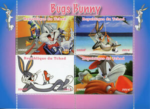 Chad-2014-Gomma-integra-non-linguellato-Bugs-Bunny-Daffy-Duck-4v-M-S-cartoni-animati-animazione