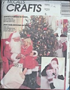 McCall-039-s-Sewing-Pattern-5566-Santa-Suit-Size-34-36-Santa-Doll-25-034-Uncut-Doll