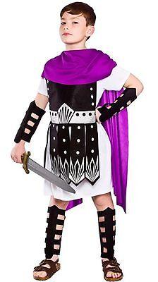 BOYS ROMAN GLADIATOR COSTUME Greek Soldier Book Week Fancy Dress Outfit 4080