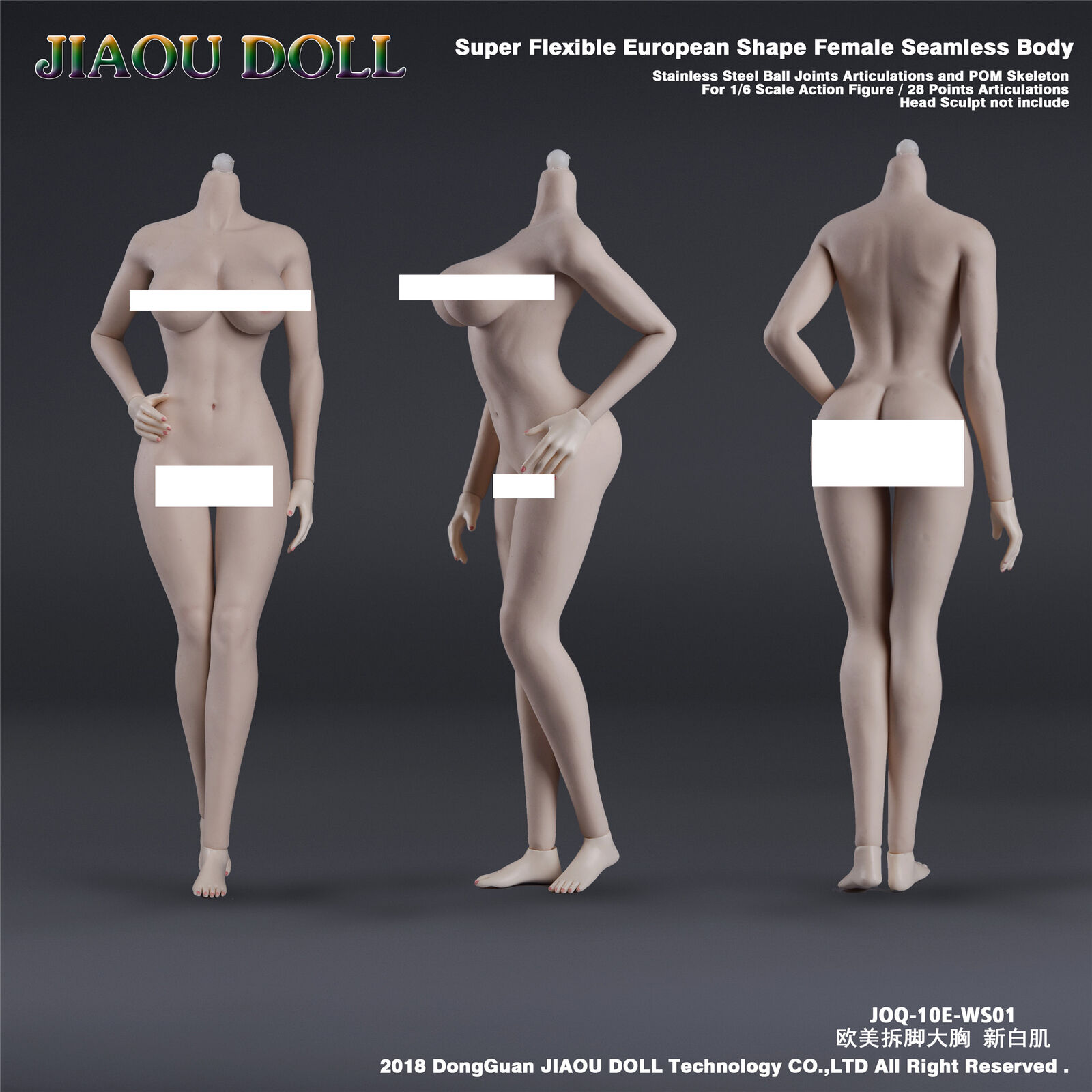 JIAOU DOLL 1 6 Scale European European European Shape 10E Seamless Female Body 12  Action Figure 04ee94