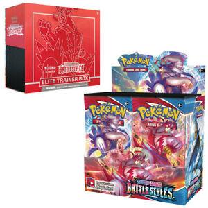 PRE-SALE: Pokemon Battle Styles Bundle: x1 Booster Box + x1 Elite Trainer Box