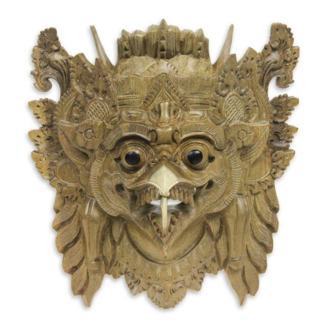 Balinese Hindu Mask Garuda The Eagle Hand Carved Acacia Wood Art Novica Bali