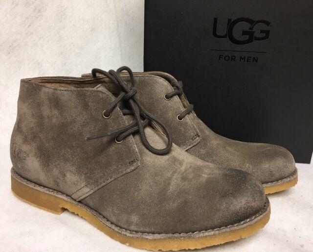 481c47dc177 UGG Australia Leighton WP Waterproof Suede Desert Boots Slate Grey Gray  1017769