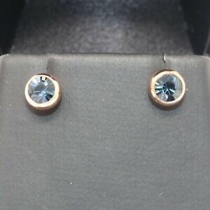 5-Ct-Sapphire-Round-Stud-Earring-Women-Wedding-Jewelry-14K-Rose-Gold-Plated