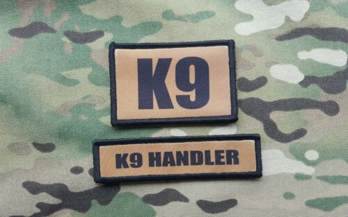 K9 Handler Coyote Tan Morale Patch Set Sheriff SWAT POLICE Special Forces