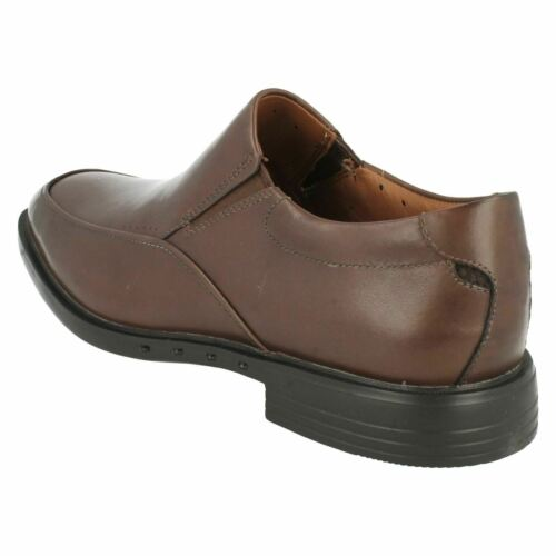 CLARKS MENS UNSTRUCTURED SLIP ON LEATHER UNBIZLEY LANE FORMAL WORK SHOES SIZE