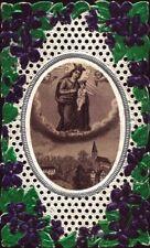 Heilige Maria Dürrnberg Wallfahrt Andachtsbild Heiligenbild Klosterarbeit O-6779