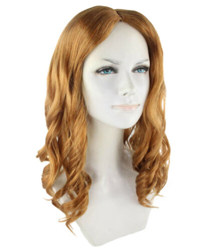 Brown Curly Wave Wig for Cosplay Avengers Infinity War Scarlet Witch HW-2726
