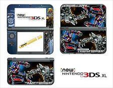 HAUT STICKER AUFKLEBER - NINTENDO NEU 3DS XL - REF 119 TRANSFORMERS
