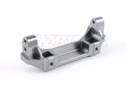 Jazrider Aluminum Front Bumper Mount Gun Metal For Traxxas TRX-4 RC Crawler