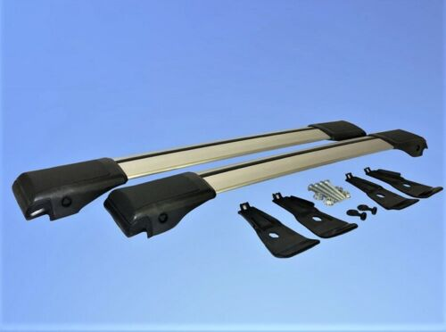 Lockable AeroWingBar Roof Rack Cross Bar Set Fits Peugeot 407 SW 2004-2010