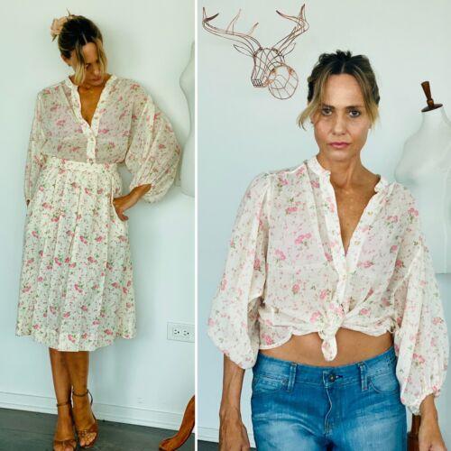 70s blouse and skirt set - 70s set - 1970s Set - 7