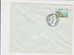 cyprus 1977 ankara building stamps cover ref 21179