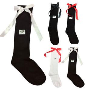 KIDS KNEE HIGH SOCKS WITH BOW GIRLS SCHOOL KNEE LENGTH SOCKS 9-12 Pack Size 3-12