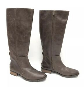 9ebadb271b4 Details about UGG Australia Leigh Boot Riding 1098315 Women's Dark Brown  Leather Tall Boots