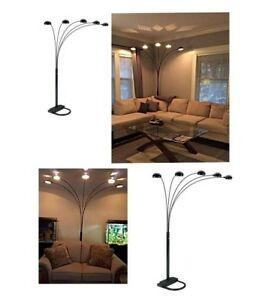 Details About Arched Floor Lamp 84 5 Arm Dimmable Adjustable Multi Head Reading Living Room