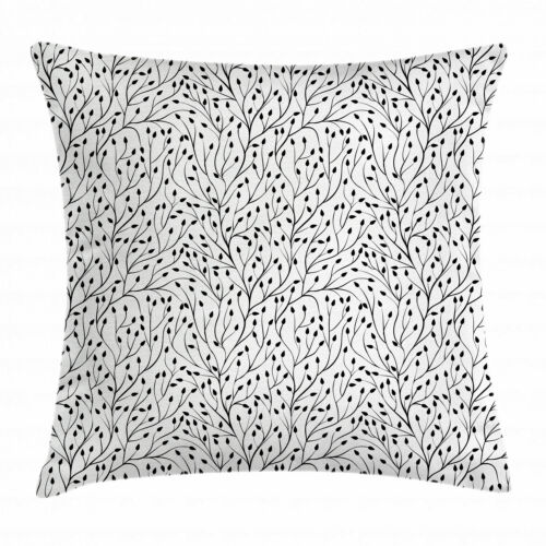 Black and White Throw Pillow Cases Cushion Covers by Ambesonne Decor 8 Sizes