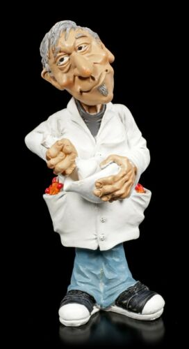 Funny Job Figur Lustiger Beruf Dekostatue Apotheker mixt neues Medikament
