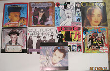 LOT of 9 CULTURE CLUB 45 rpm Picture Sleeves (Only - NO 45s)