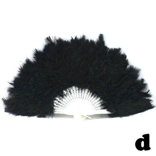 1x Newest Costume Wedding Showgirl Dance Folding Hand Feather Fan Fancy Handfan