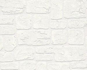 as creation ziegelstein optik wei geblasen vinyl texturiert druckbar tapete ebay. Black Bedroom Furniture Sets. Home Design Ideas