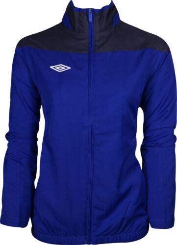 Umbro Sport Womens Jacket Blue Contrast Panels Full Zip Ladies Sports Training