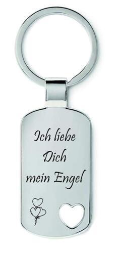 Ich liebe DICH mein ENGEL Schmalz® Schlüsselanhänger aus Metall Modell