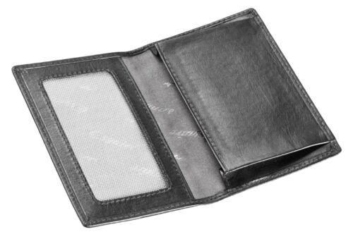 Esquire Eco Card Case Cuir étui carte de visite petits /& élégant voyages grise