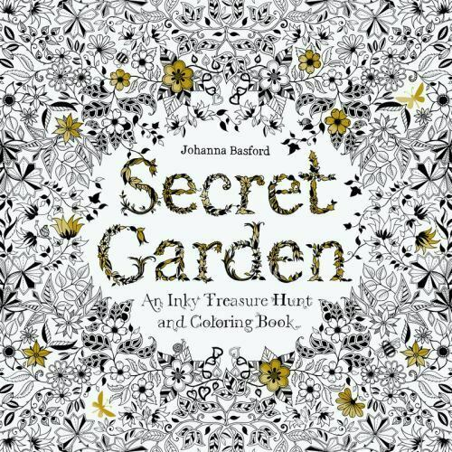 Secret Garden : An Inky Treasure Hunt And Colouring Book By Johanna Basford  (2013, Trade Paperback) For Sale Online EBay