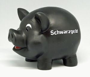 Sparschwein-mit-Ohren-Schwarzgeld-Schloss-Schluessel-17-cm-lang